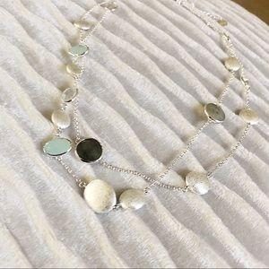 Stella & Dot Jewelry - Stella & Dot long layer silver necklace